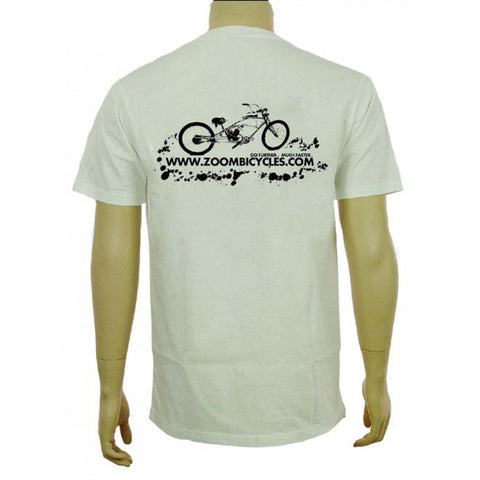 ZoomBicycles White Cotton T-Shirt (Large) - ZoomBicycles
