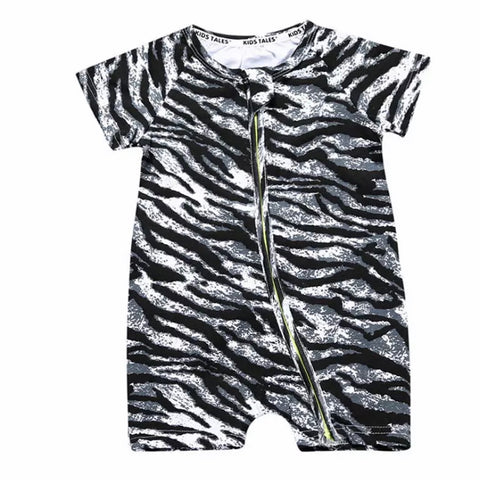Zebra Zippered Onesie