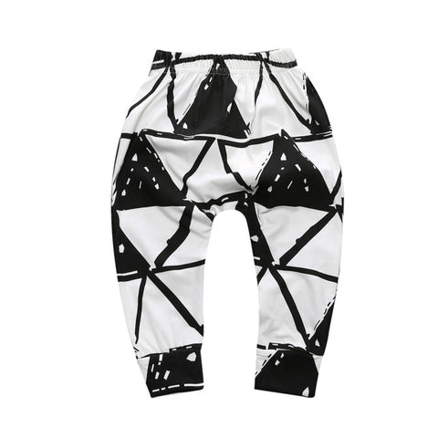 Black & White Triangle Harem Pants