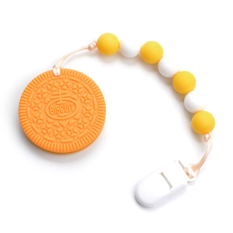 Cookie Teething Pendant with Clip