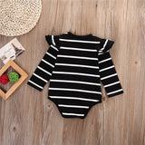 Ruffles & Stripes Onesie Black
