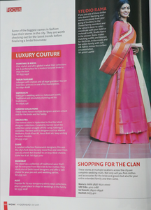 Featured in WOW ! HYDERABAD( OCT 2018 )