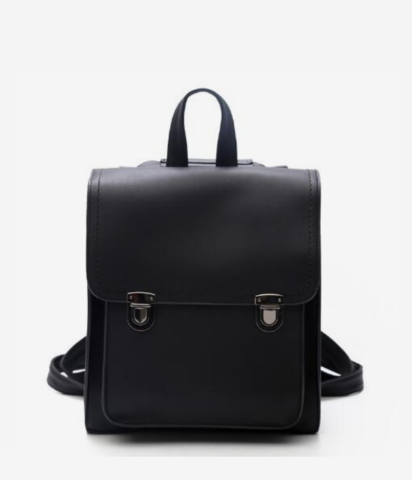 vegan leather backpack satchel bag