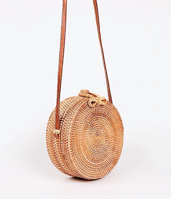 Loni Straw Crossbody