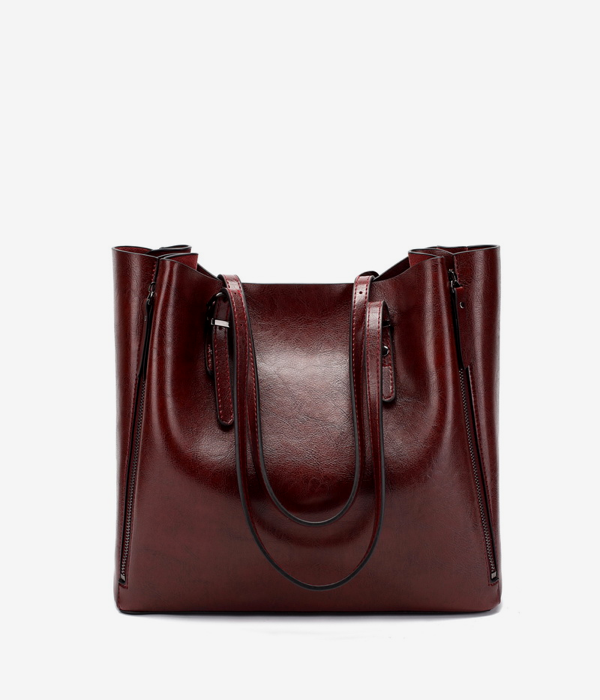vegan leather tote bag