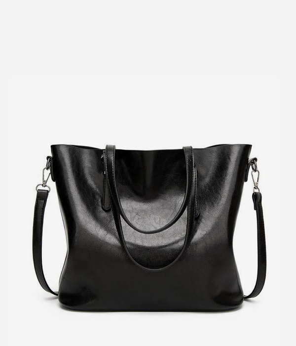 vegan tote bag leather black