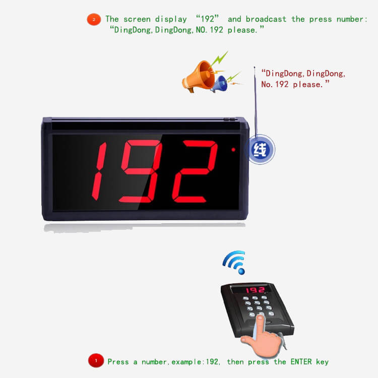 wireless queuing pager system RDJ1000B (1)