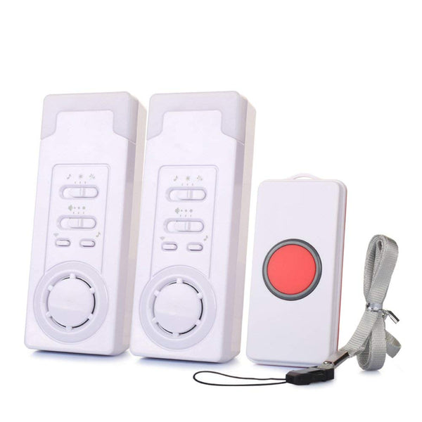 Remote Wireless Caregiver Pagers(1 call 2) | Call Alert for Elderly | Emergency Call Necklace Ederly - ringdido