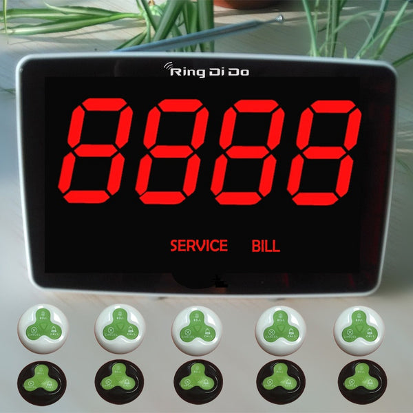 "Restaurant Server Pager System |  ""BILL"" Beeper Pager - ringdido"