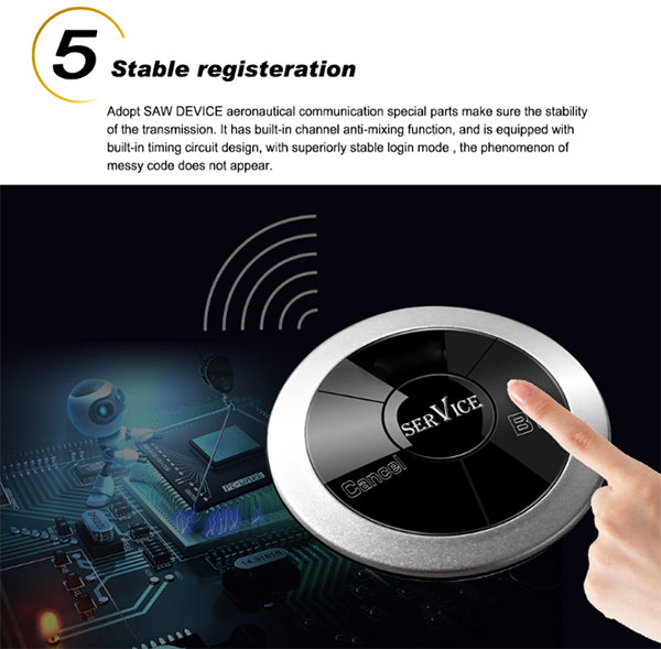 Waterproof Restaurant Pager / Ultra-Thin Three Keys Button - ringdido