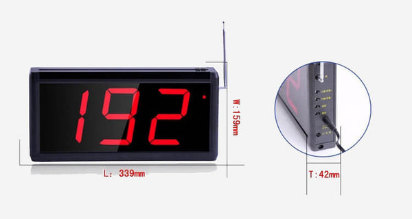 Queuing System for Restaurant | Guest Queuing System | Queuing System Display - ringdido