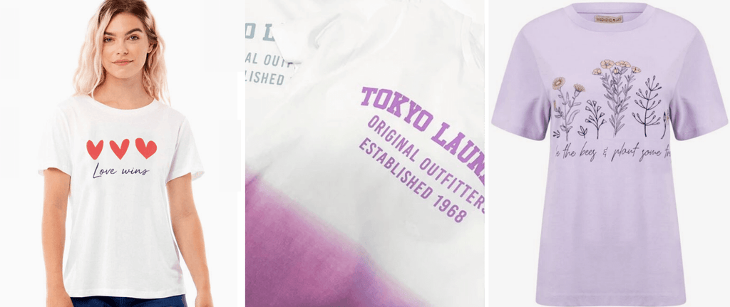 Women's t-shirts available at Tokyo Laundry
