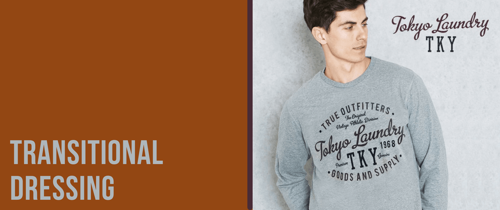 Transitional clothing to create an autumn wardrobe