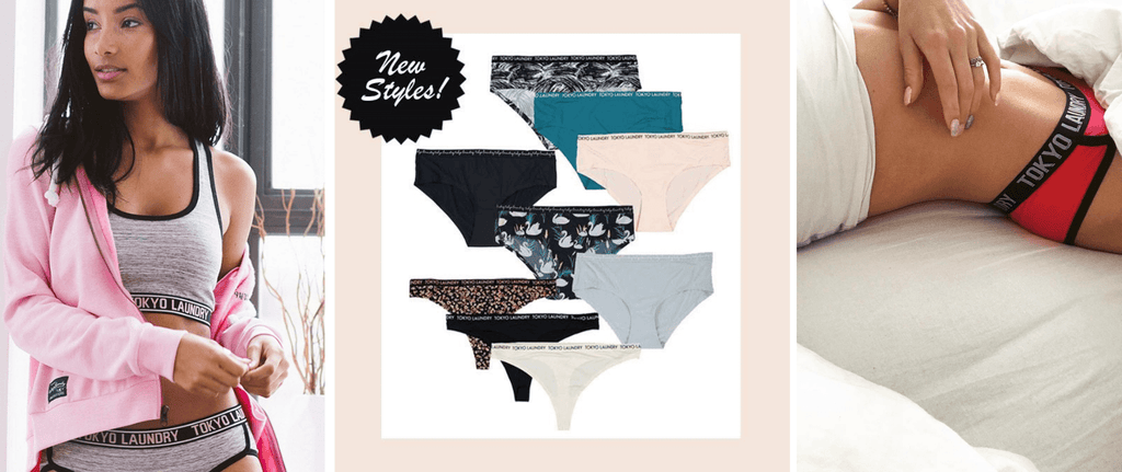 Examples of women's underwear available at Tokyo Laundry