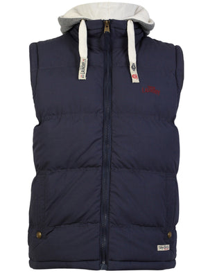 Brookmere hooded gilet in blue - Tokyo Laundry