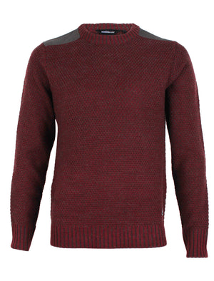 Dissident Gatton Crew Neck Sweater in Oxblood