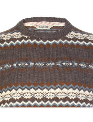 Tokyo Laundry Piccadilly Patterned Wool Blend Sweater