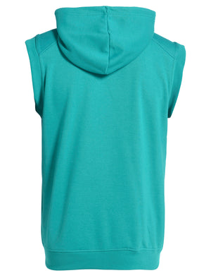 Peacock Green D-Code Bobby Sleeveless Hoodie