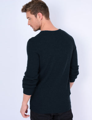 Hawes V Neck Lambswool Rich Knitted Jumper in Dark Navy – Tokyo Laundry
