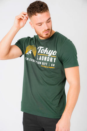 Etherow Motif Cotton Jersey T-Shirt In Jungle Green – Tokyo Laundry