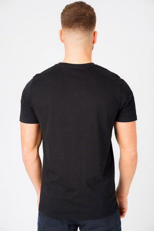 Bruntwood Motif Cotton Jersey T-Shirt In Jet Black – Tokyo Laundry