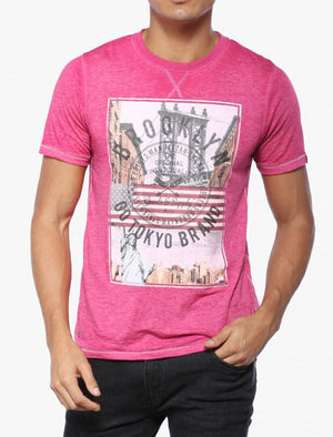 Auburn Point Burnout T-Shirt in Pink Rose - Tokyo Laundry