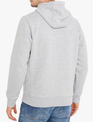 Nocona Brush Back Fleece Pullover Hoodie In Light Grey Marl – Tokyo Laundry