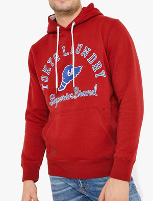 Nocona Brush Back Fleece Pullover Hoodie In Rio Red – Tokyo Laundry