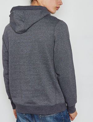 Timberfield Pullover Hoodie With Patches In Dark Navy – Tokyo Laundry