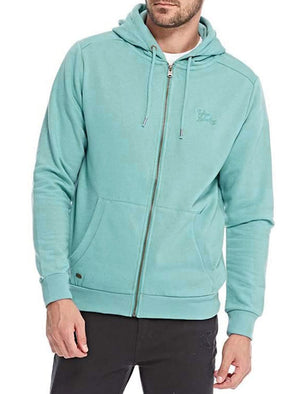 Lollard Zip Through Hoodie in Dark Mint – Tokyo Laundry