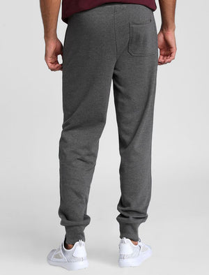 Hollow Brush Back Fleece Cuffed Joggers In Dark Grey Marl – Tokyo Laundry