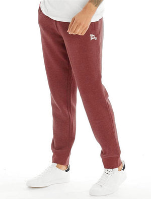 Marshaw Brush Back Fleece Joggers In Bordeaux Marl – Tokyo Laundry