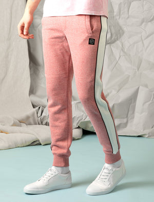 Greenwood Cuffed Joggers with Side Tape Detail In Washed Red - Tokyo Laundry