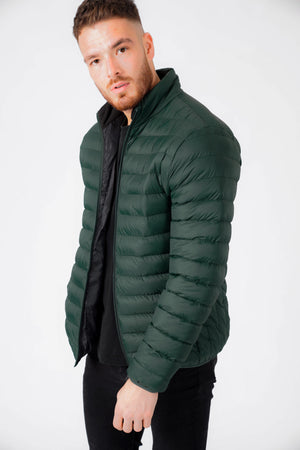 Inigo Funnel Neck Quilted Puffer Jacket in Pine Grove – Tokyo Laundry