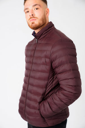 Inigo Funnel Neck Quilted Puffer Jacket in Vintage Wine – Tokyo Laundry
