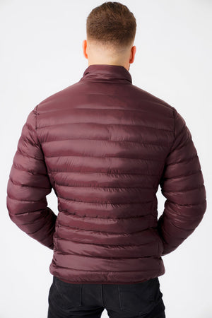 Inigo Funnel Neck Quilted Puffer Jacket in Vintage Wine - Tokyo Laundry