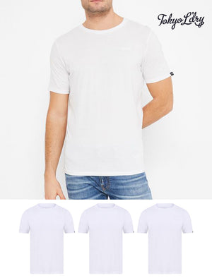 Highwoods (3 Pack) Crew Neck Combed Cotton T-Shirts In Bright White - Tokyo Laundry