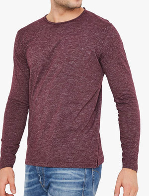 Jack Slub Cotton Jersey Long Sleeve Top with Chest Pocket In Winetasting - Tokyo Laundry