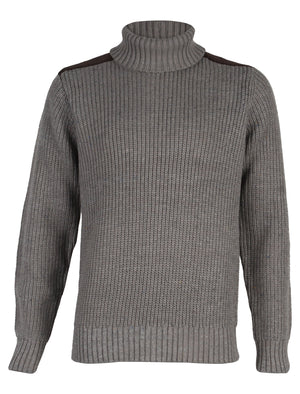 Dissident Hatton Polo Neck Sweater in grey