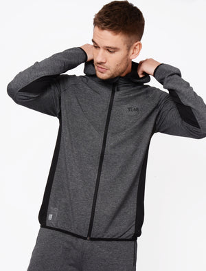 Bolt Mesh Panel Zip Through Hoodie In Black / White Grindle – Tokyo Laundry Active