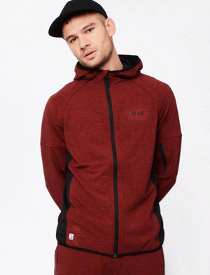 Bolt Mesh Panel Zip Through Hoodie In Red / Black Grindle – Tokyo Laundry Active