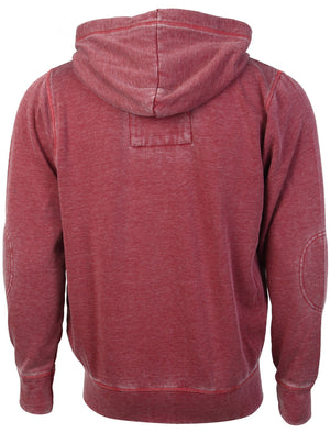 Tokyo Laundry George red burn out zip up hoodie