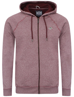 Men's soft red zip up hoodie - Le Shark