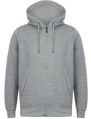 Chiswell Zip Through Hoodie in Light Grey Marl - Dissident