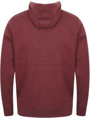 Chiswell Zip Through Hoodie in Bordeaux Marl – Dissident