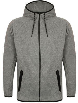 Southwick Zip Through Hoodie in Dark Grey Marl / White Spot – Dissident