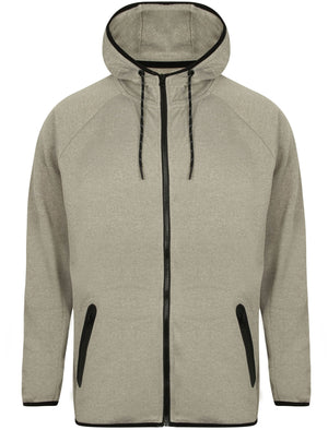 Southwick Zip Through Hoodie in Grey Marl / White Spot – Dissident