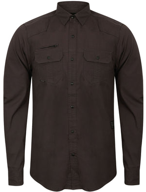Bismarck Long Sleeve Shirt in Charcoal – Dissident