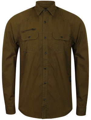 Bismarck Long Sleeve Shirt in Olive Night – Dissident