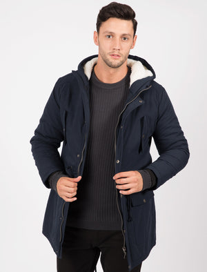 Astrid Borg Lined Hooded Parka Coat In True Navy – Tokyo Laundry